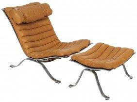 Arne Norell Ari Lounge Chair & Ottoman