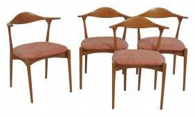 4 Danish Modern Armchairs