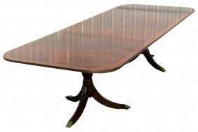 CUSTOM BANDED 11 ft. EXTENSION DINING TABLE