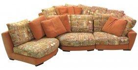 Pair Roche Bobois Upholstered Sofas