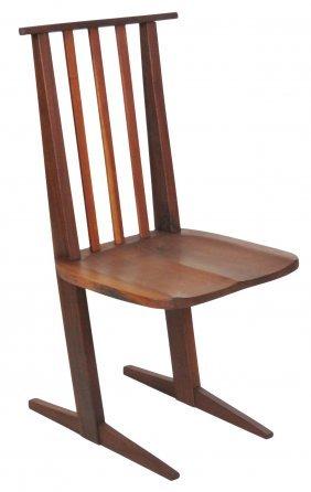 Nakashima Style Walnut Conoid Chair
