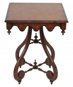 Theodore Alexander Burl Wood Side Table