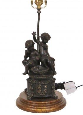 Wildwood Bronze Putti Table Lamp