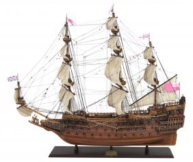 """Scale Wooden Ship Model """"sovereign Of The Seas"""""""