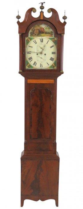 19th C. Tall Case Grandfather's Clock
