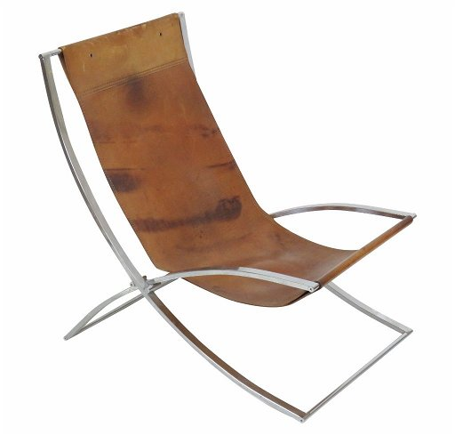 Astounding Marcello Cuneo Luisa Chrome Leather Lounge Chair Theyellowbook Wood Chair Design Ideas Theyellowbookinfo