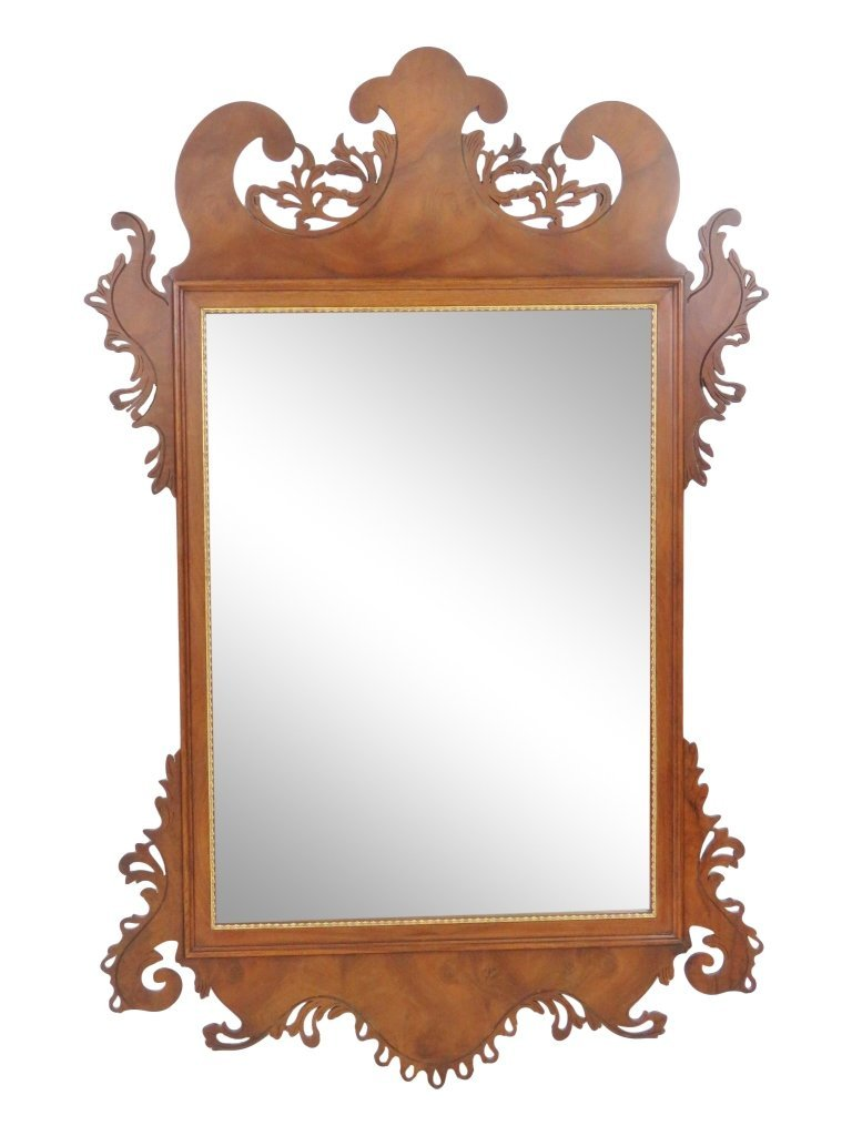 EJ VICTOR CARVED HANGING WALL MIRROR