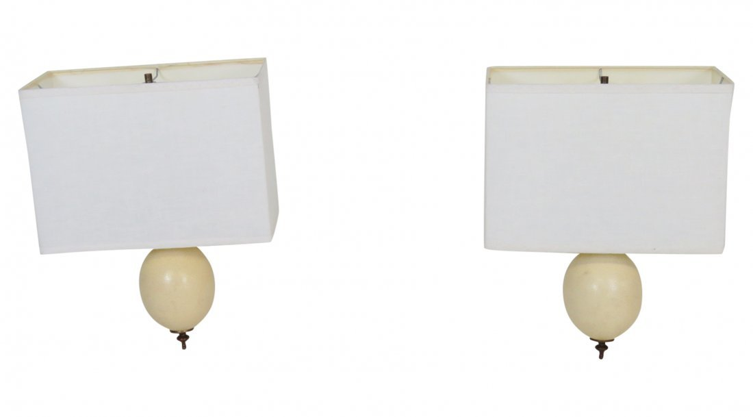 Pair MODERN OSTRICH EGG STYLE HANGING SCONCES