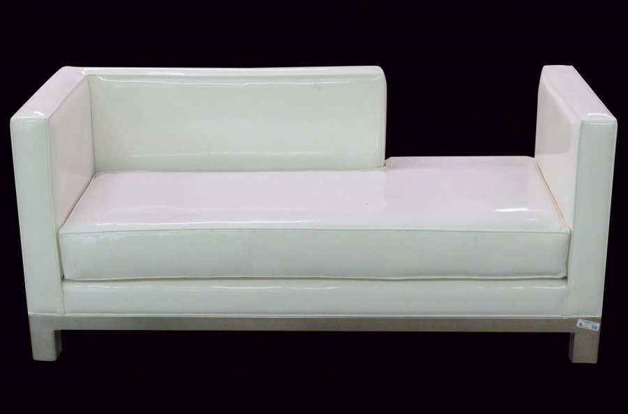 J.A. CASILLAS WHITE VINYL SOFA