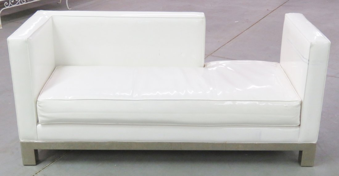 J.A. CASILLAS WHITE VINYL SOFA - 2