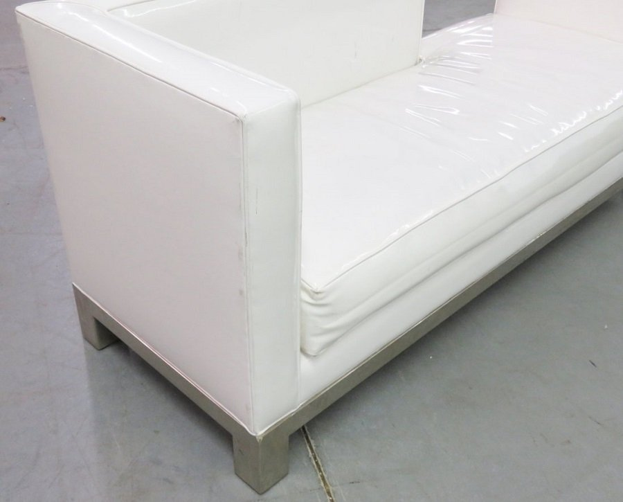 J.A. CASILLAS WHITE VINYL SOFA - 3