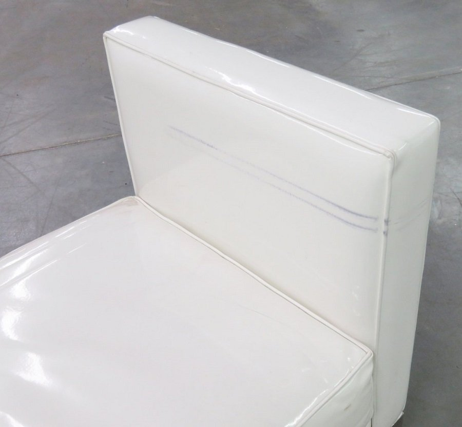 J.A. CASILLAS WHITE VINYL SOFA - 4