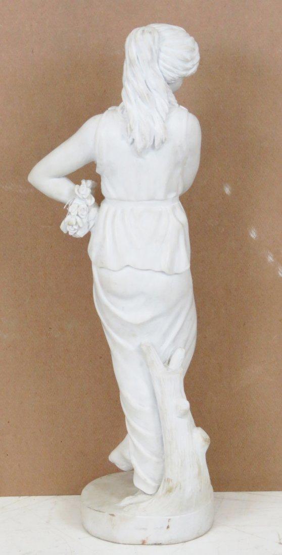 WHITE MARBLE STATUE OF ROMAN GODDESS - 6