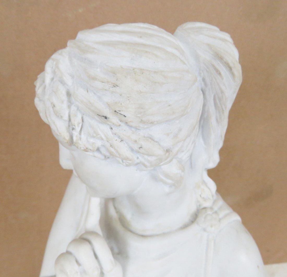 WHITE MARBLE STATUE OF ROMAN GODDESS - 7
