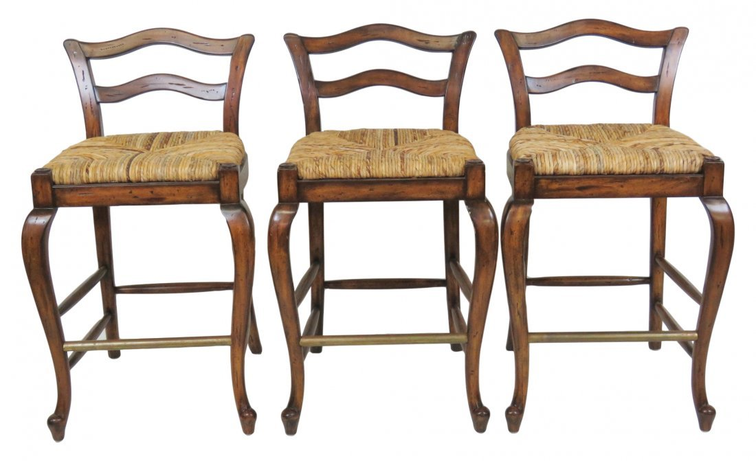 3 MAITLAND SMITH COUNTRY FRENCH BAR STOOLS