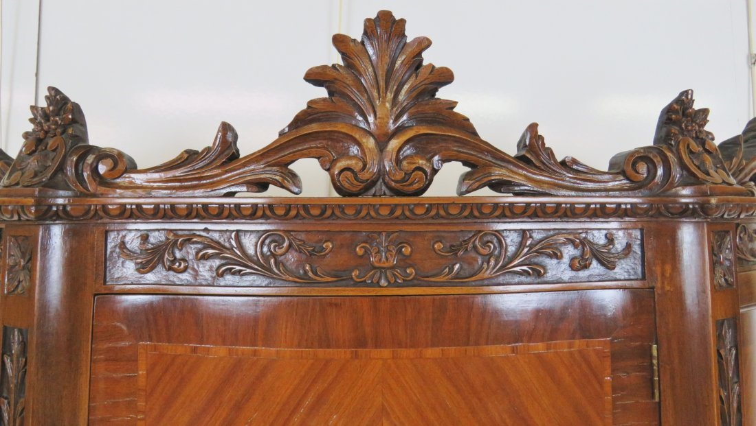 LOUIS XV STYLE INLAID CARVED CHINA CLOSET - 4