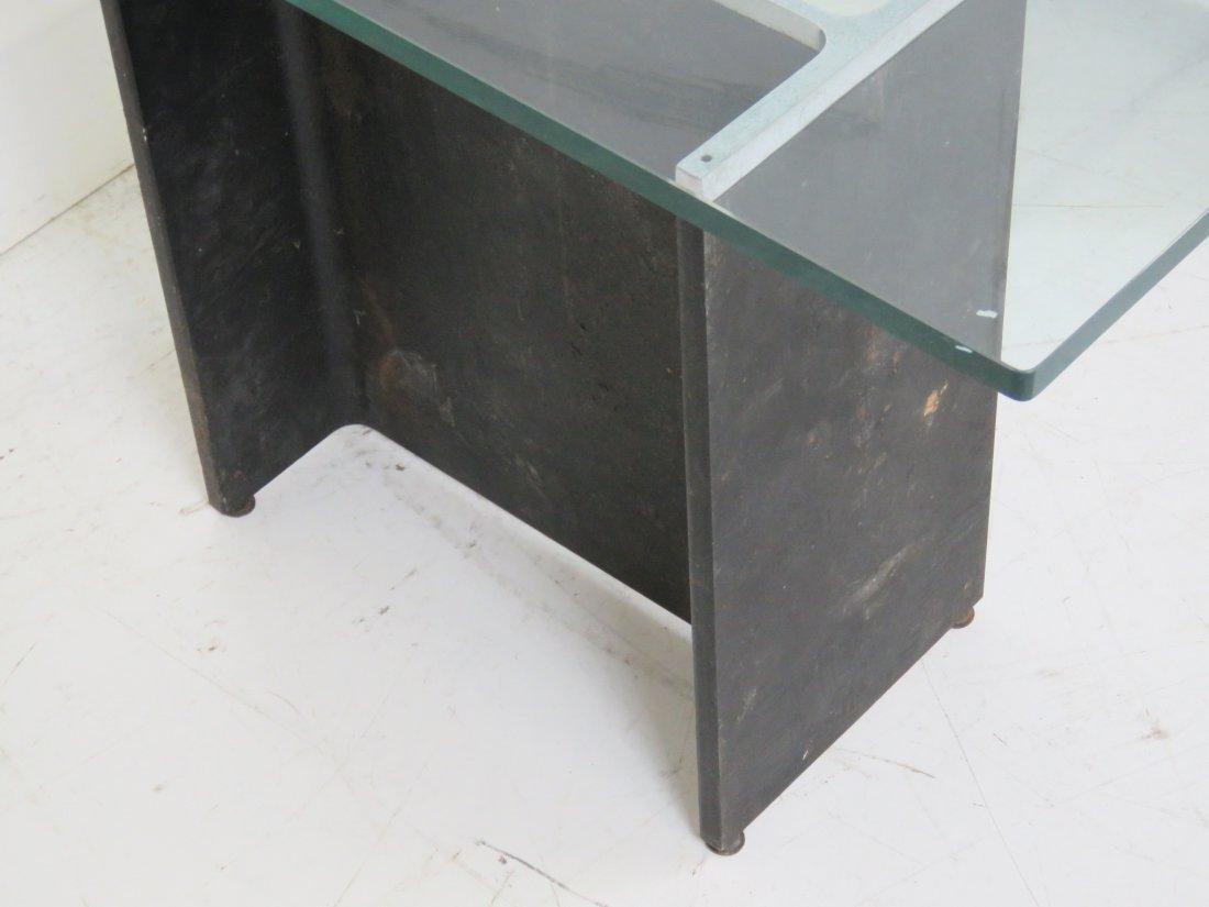 MODERN DESIGN METAL & CHROME BASE GLASS TOP COFFEE - 4