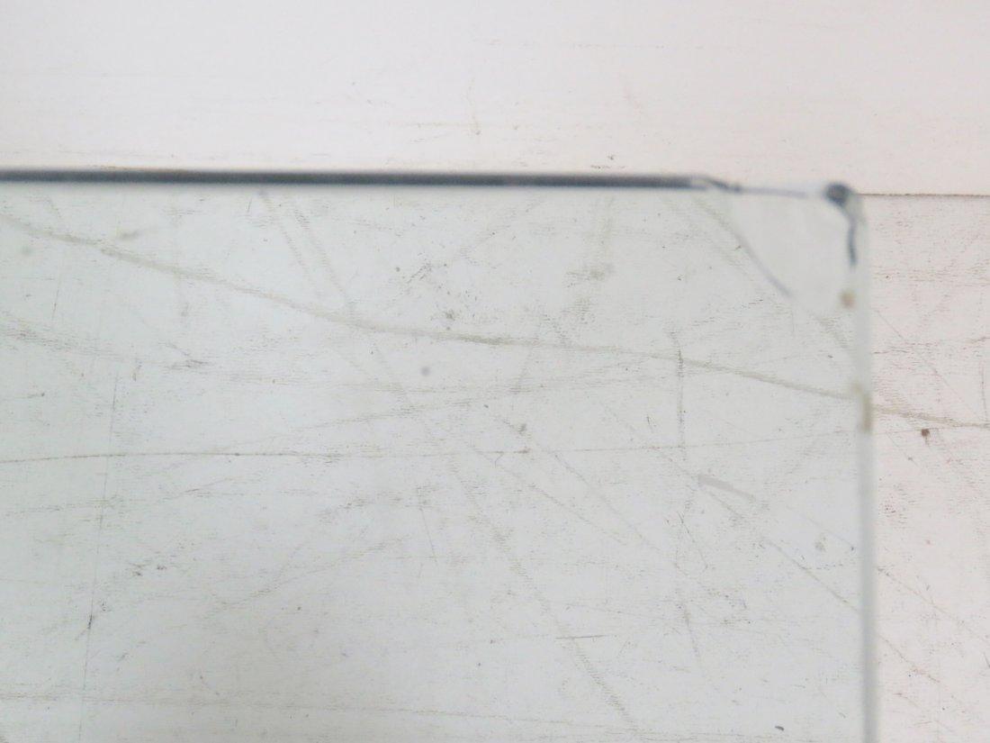 MODERN DESIGN METAL & CHROME BASE GLASS TOP COFFEE - 5