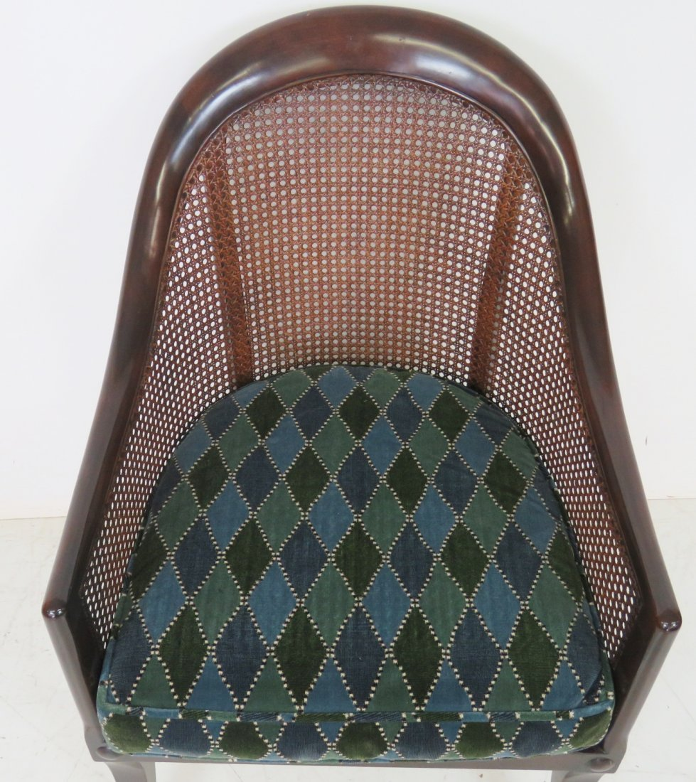 REGENCY STYLE MAHOGANY CANED LOUNGE CHAIR - 3