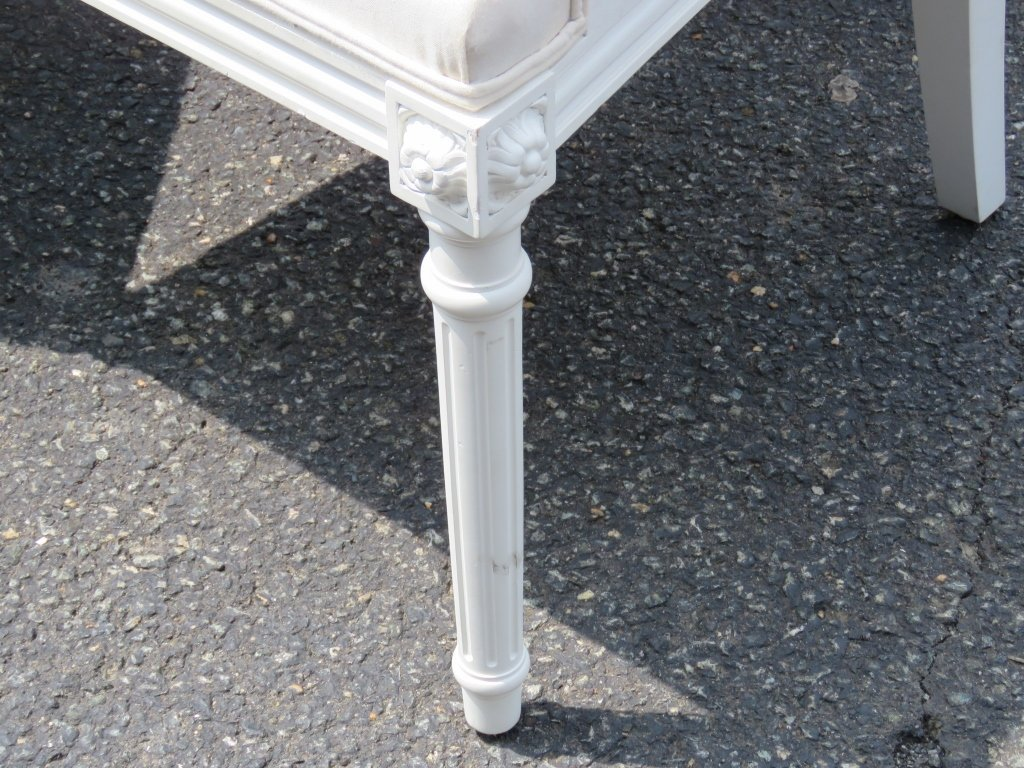 12 JANSEN STYLE PAINTED DINING CHAIRS - 2