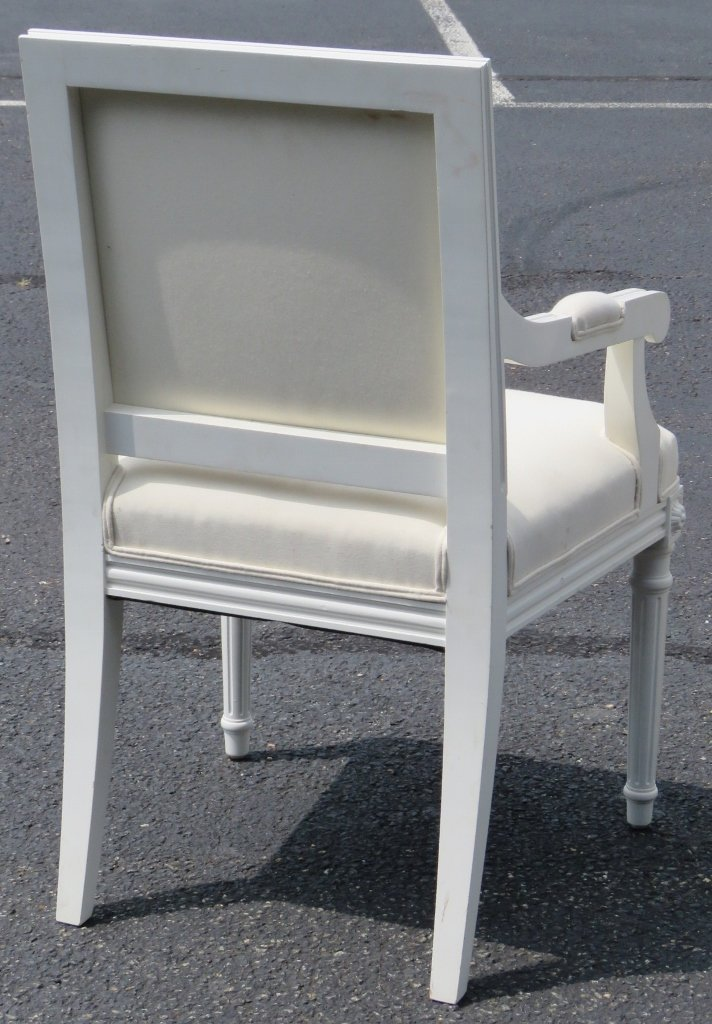 12 JANSEN STYLE PAINTED DINING CHAIRS - 7