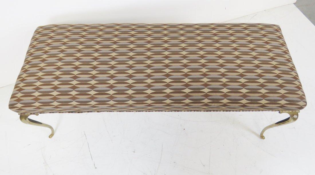DIRECTOIRE STYLE BRASS LEGGED WINDOW BENCH - 3