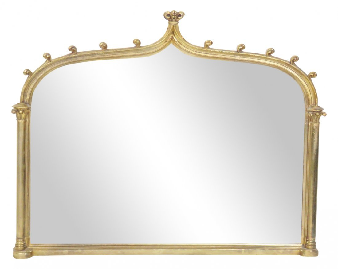 REGENCY STYLE GILT CARVED MIRROR