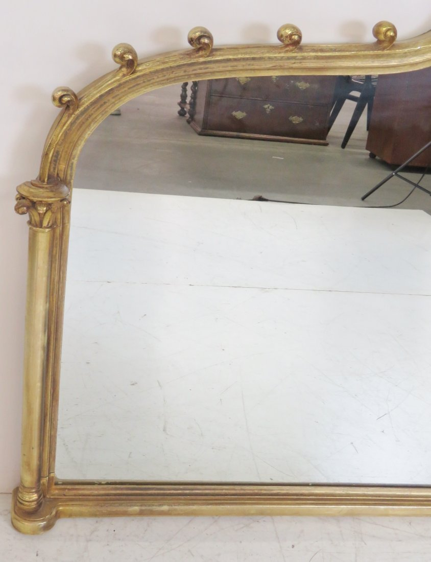 REGENCY STYLE GILT CARVED MIRROR - 3