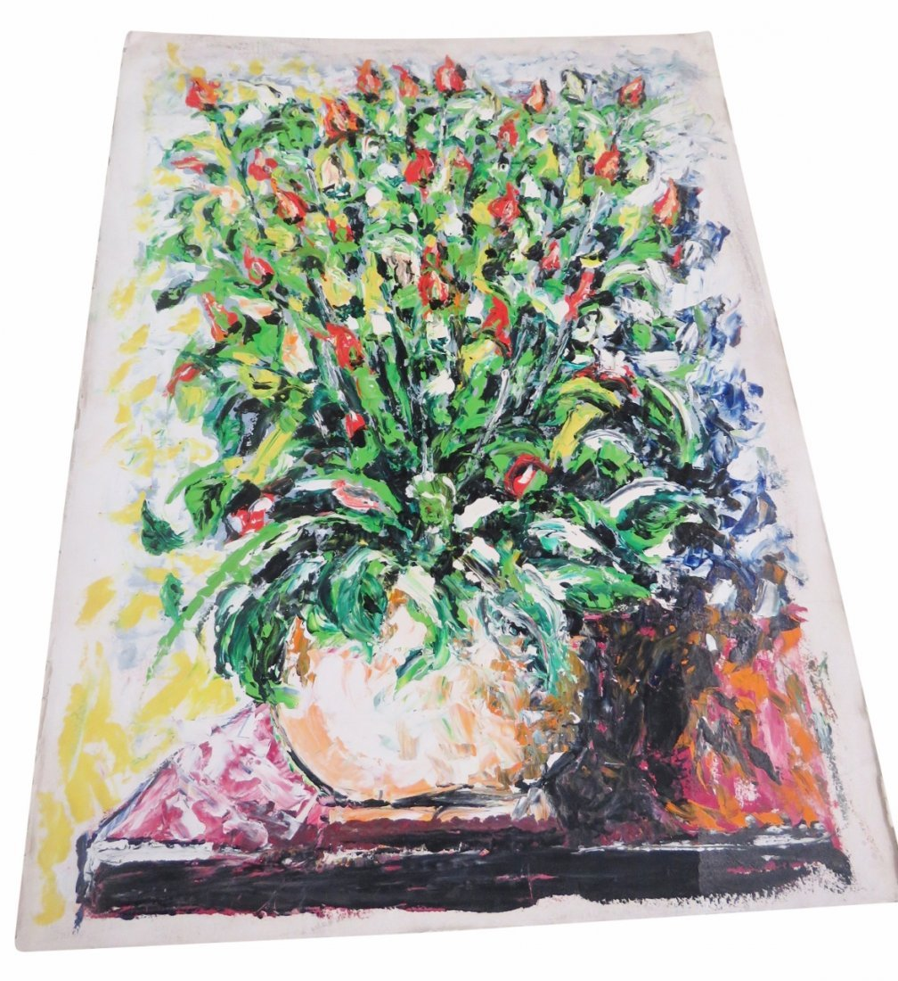 MAZZONE OIL PAINTING of FLORAL BOUQUET