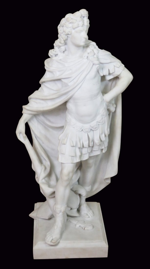 G. VERONA MARBLE STATUE of HERCULES after the ANTIQUE