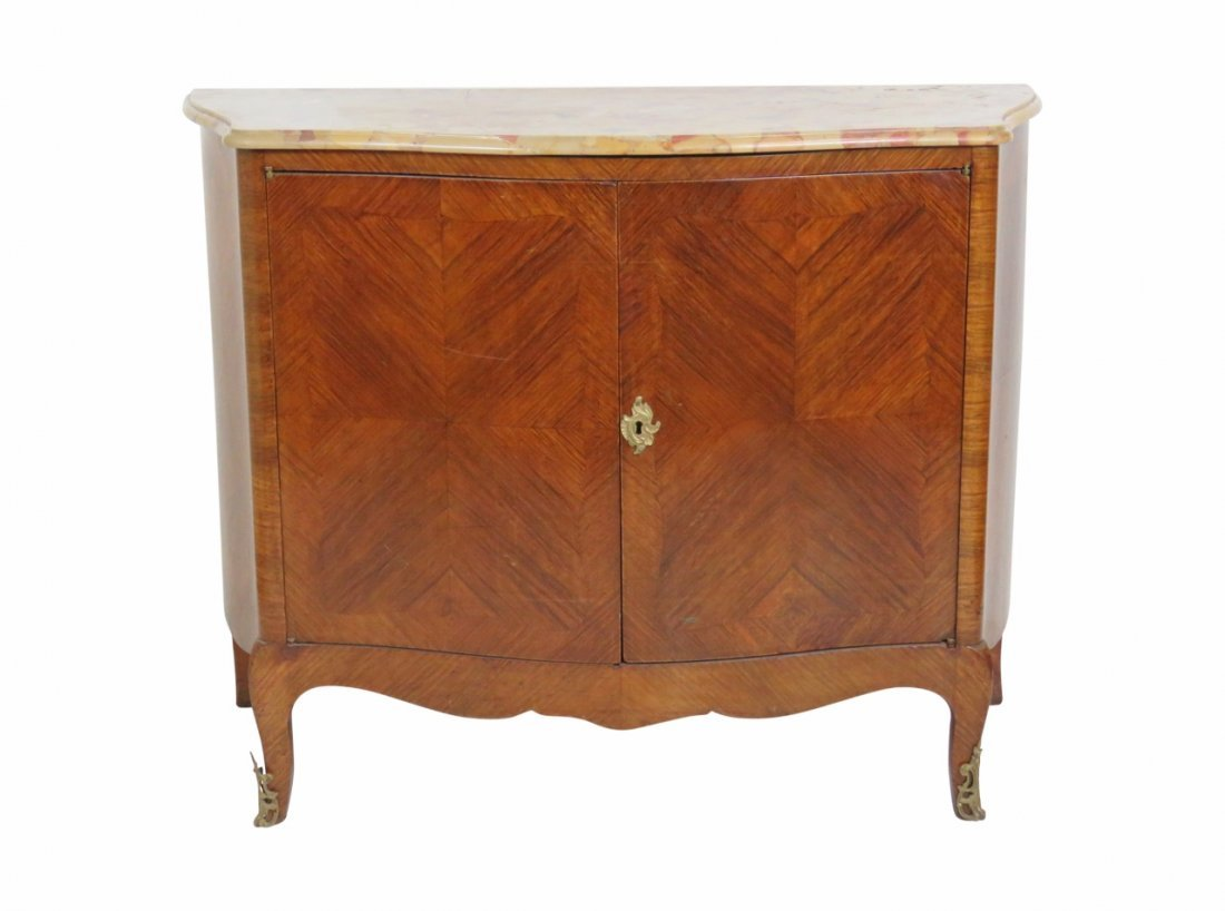 FRENCH STYLE INLAID MARBLETOP COMMODE