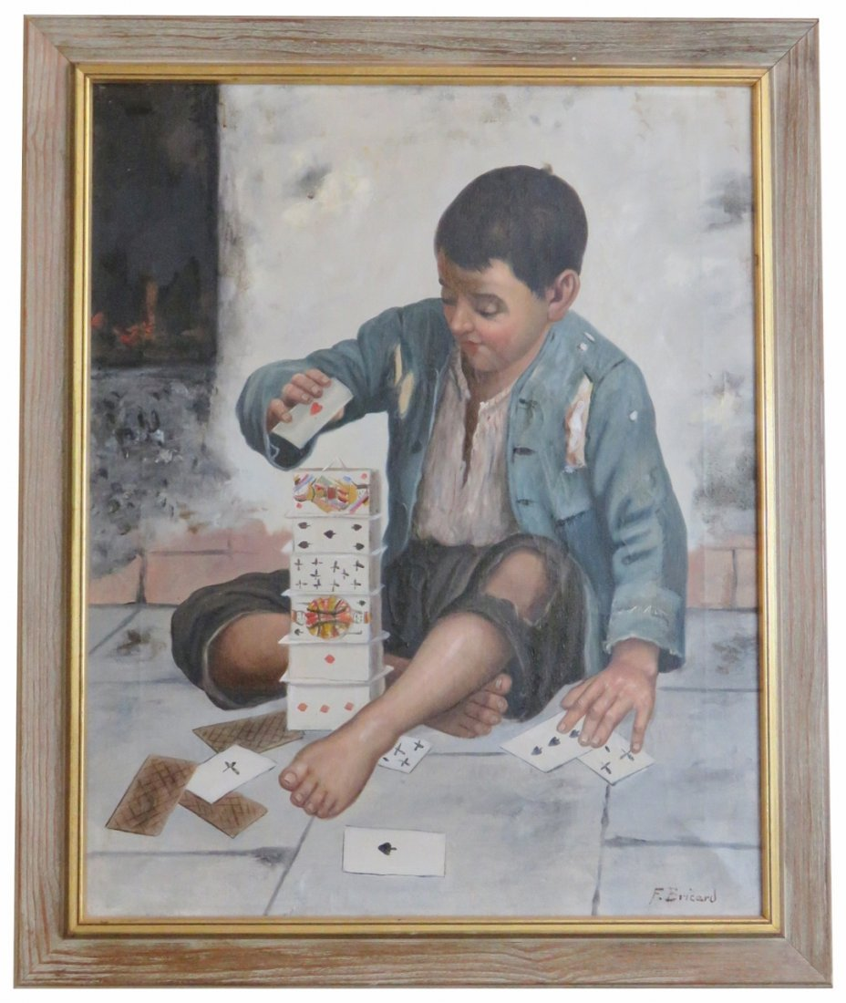 F. BRICAD OIL PAINTING ORPHAN PLAYING CARDS