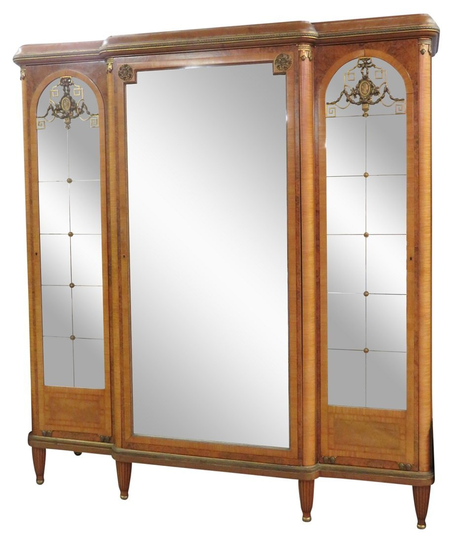 LOUIS XV STYLE BRONZE MOUNTED INLAID ARMOIRE