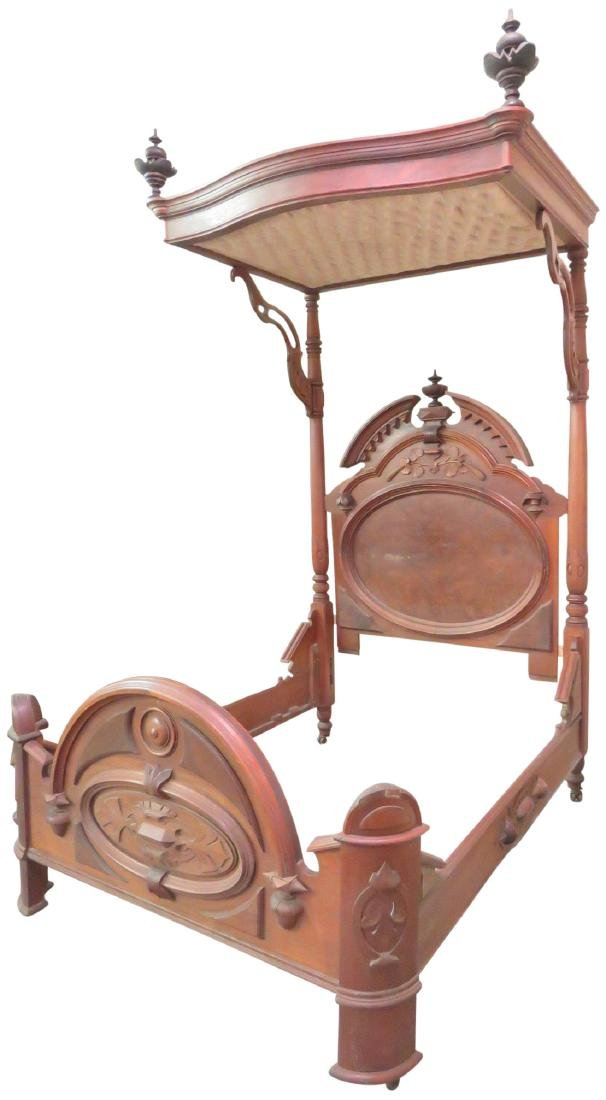 MITCHELL & RAMMELSBERG VICTORIAN CARVED TESTER BED