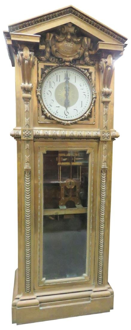 MONUMENTAL UNIQUE SINGER SEWING Co. BRONZE MASTER CLOCK