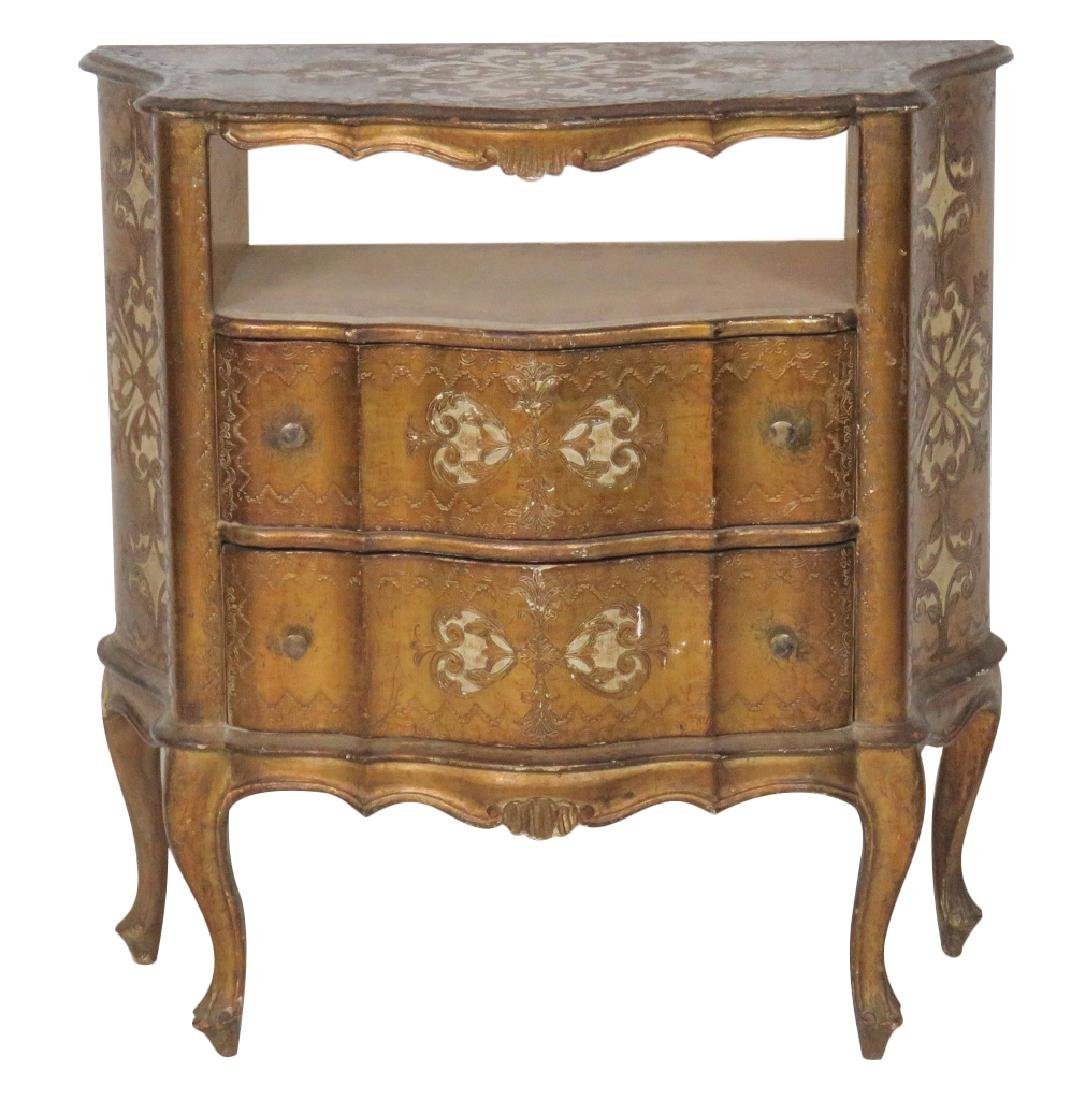FLORENTINE STYLE GILT PAINTED SIDE TABLE