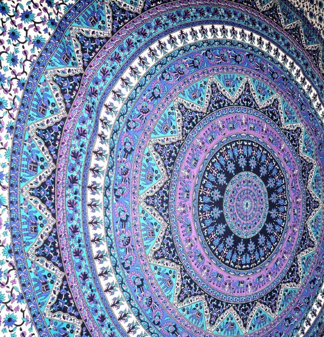 Aztec Indian Handmade Mandala Tapestry,Hippy wall cloth