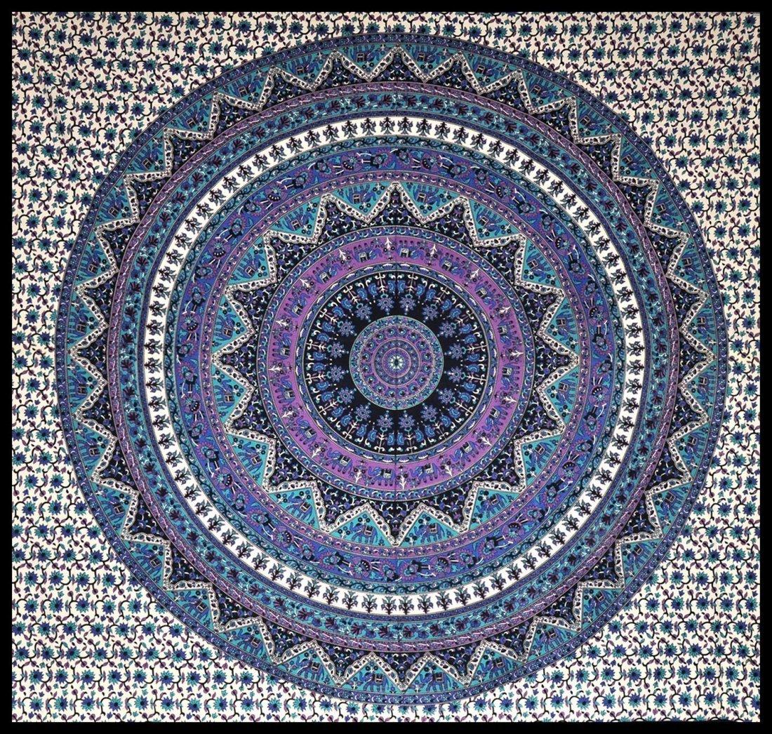 Aztec Indian Handmade Mandala Tapestry,Hippy wall cloth - 2