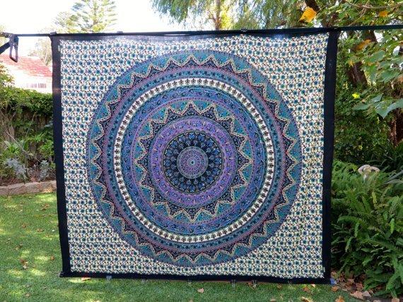Aztec Indian Handmade Mandala Tapestry,Hippy wall cloth - 5