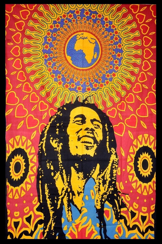 Bob Marley World Tapestry, Wall Hanging Throw Bedspread