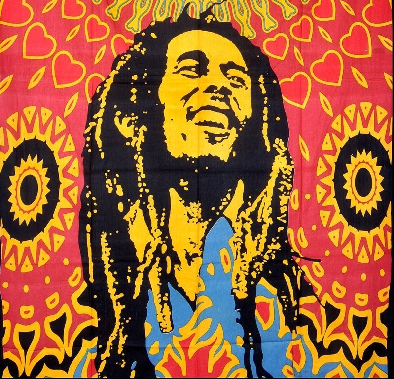Bob Marley World Tapestry, Wall Hanging Throw Bedspread - 2