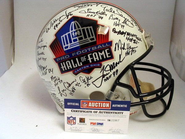 4: HoF - 2004 Hall of Famers Autod Authentic Helmet