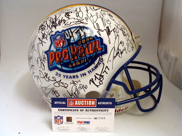 6: NFL - 2004 Pro Bowlers Autod Authentic Helmet