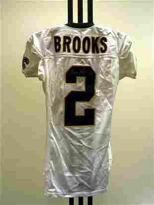 NFL - BROOKS Autod Game Used Jersey