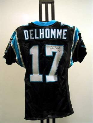 NFL - DELHOMME Autod Game Used Jersey
