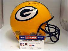 16: NFL - Brett Favre Autod Game Used Helmet