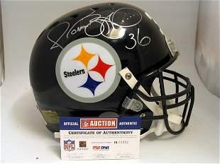 NFL - Jerome Bettis Autod Game Used Helmet