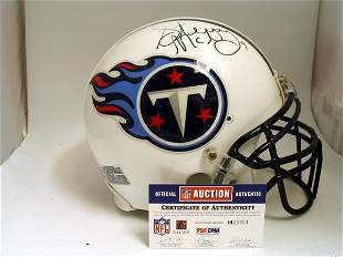 NFL - Steve McNair Autod Game Used Helmet