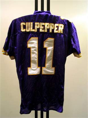 NFL - CULPEPPER 9/12/04 Game Used Jersey