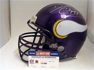 NFL - Daunte Culpepper Autod Game Used Helmet